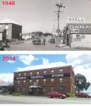 Morris General Store - MAin Street of Swansea 1948 and 2014